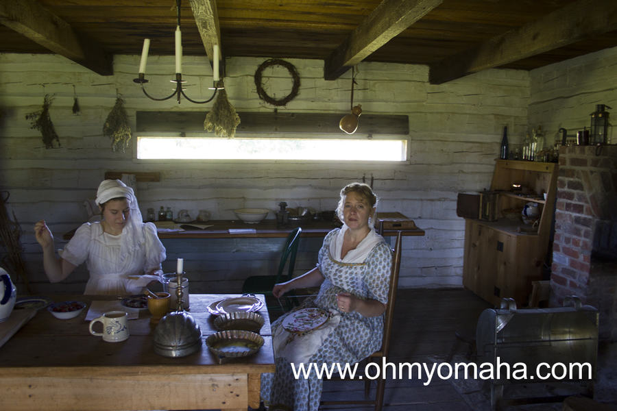 Historic reenactors at Fort Atkinson in Fort Calhoun, Nebraska. These ladies in the kitchen at Fort Atkinson will be the first to tell visitors women weren't allowed in the fort back in the day, though. They're part of the re-enactments to give insight to what life was like outside of the fort.
