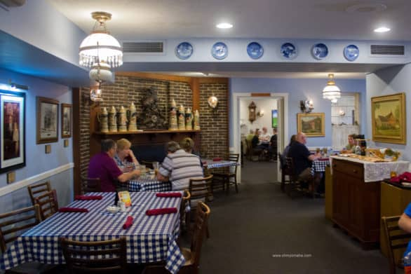 A peek at one of the dining rooms at Ox Yoke Inn. Meals are served family-style.