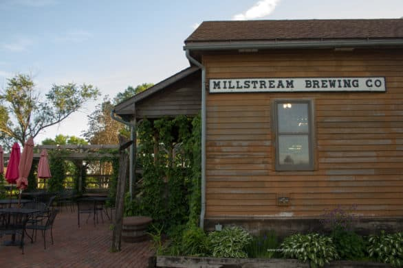 The Millstream Brewing Co. in Amana, Iowa, is the first microbrewery in Iowa. The brewery has a pretty nice patio that we didn't get to enjoy.