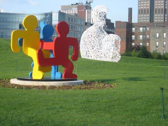 Des Moines' free sculpture park, the Pappajohn. Photo courtesy Catch Des Moines