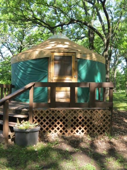 Clear Lake Iowa Bucket List - Stay in a yurt
