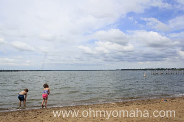 Playing at City Beach in downtown Clear Lake, a short drive from South Shore Inn.