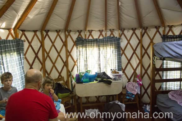 A glamorous morning in our yurt