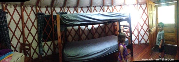 "All you ""Big"" fans out there now have the legit chance to tell your spouse ""I get to be on top."" This yurt has a bunk bed, plus a futon."