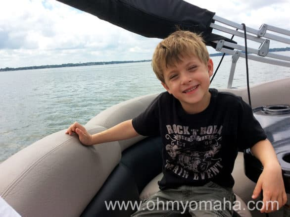 My son loved the boat ride on Clear Lake, especially when the driver kicked it into high speed.