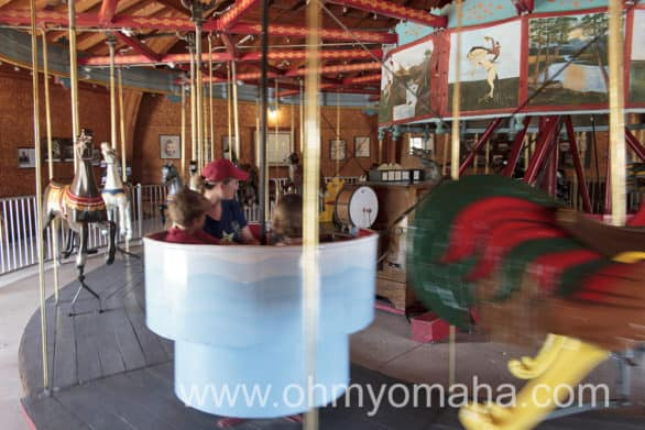 An antique calliope played music while the Story City Carousel made its rounds.