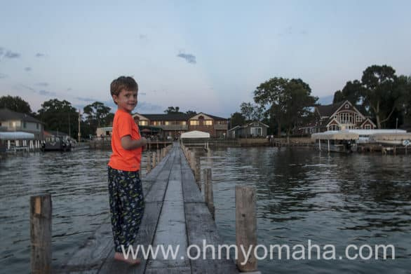 I think my son was smitten with the view and private dock at South Shore Inn, too.