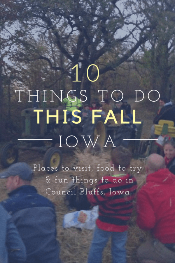 10 things to do in Council Bluffs, Iowa this fall - Visit an apple orchard, enjoy a hayrack ride and bonfire, and more! #Iowa #thisisIowa #unleashCB