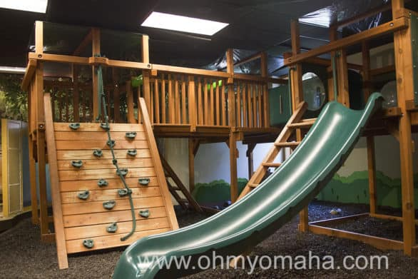 Indoor playground at the visitor's center at Fontenelle Forest in Nebraska