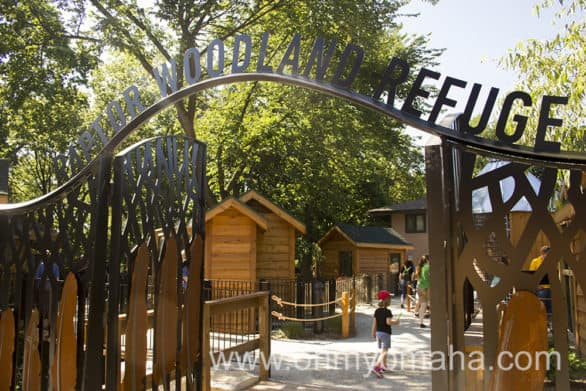 The entrance to Fontenelle Forest's Raptor Woodland Refuge in Bellevue, Neb.