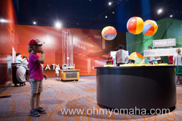 Child playing at Children's Learning Center at Strategic Air Command & Aerospace Museum