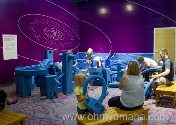 Foam building station at Children's Learning Center at Strategic Air Command & Aerospace Museum