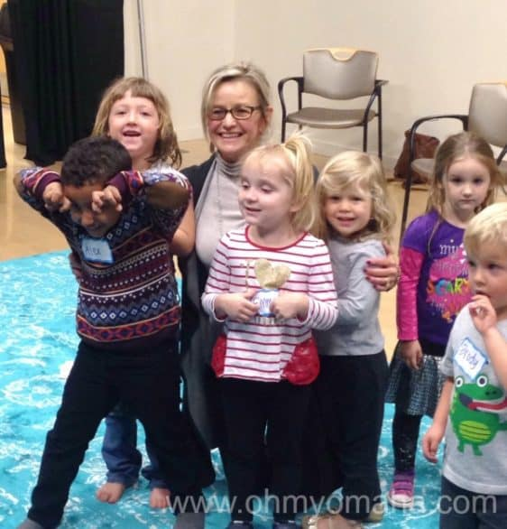 Ms. Susie with some of the Webop preschoolers at the end of their eight-week program. The program was created by Jazz at Lincoln Center and brought to Nebraska by Omaha Performing Arts.