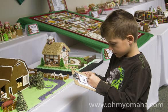 There's a scavenger hunt for families do to at the Gingerbread Festival.