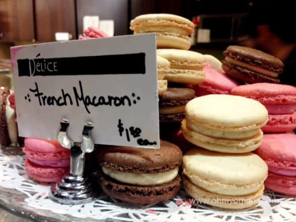 We sampled cookies, a mint brownie and the macarons during our feast. My favorite, as well as Mooch's, was the macarons.