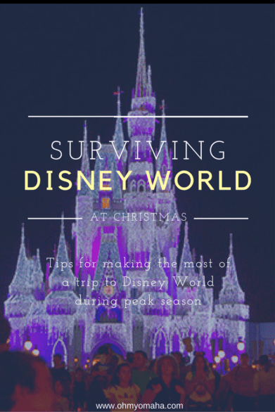 Planning a trip to Disney World at Christmas? Here are some tips to make your dream vacation go as smoothly as possible during Disney's peak season #familytravel #traveltips #travelhacks