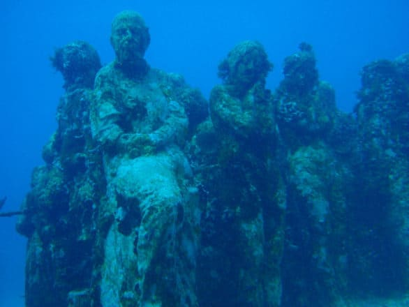 Bucket list of things to do on Isla Mujeres - Scuba dive to see the sculptures found in the Underwater Museum