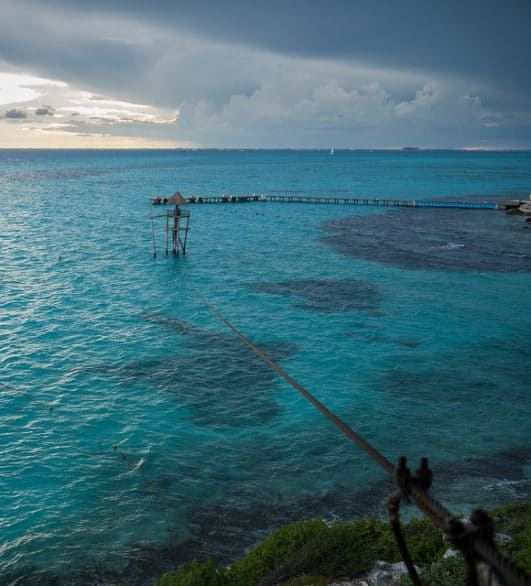 Bucket list of things to do on Isla Mujeres - Zipline at the Garrafon Natural Reef Park