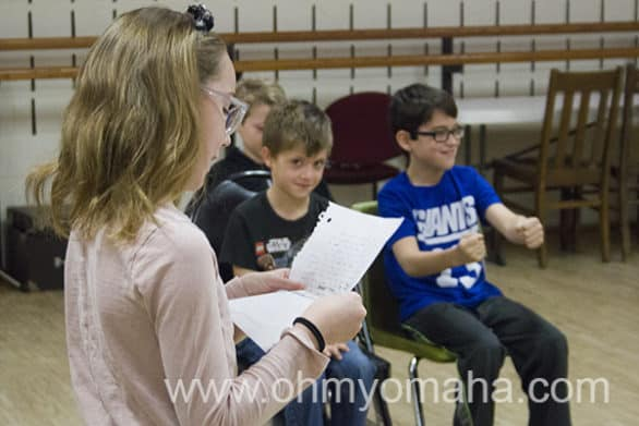 Theatre class for 7 to 10 year olds at Omaha Community Playhouse