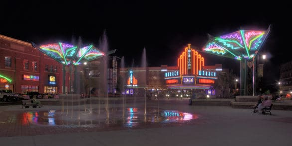 Old Town Wichita at night