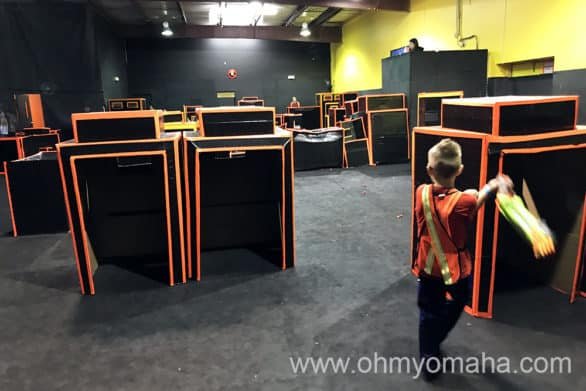 The playing field at Dart Warz Wichita - the business is now closed