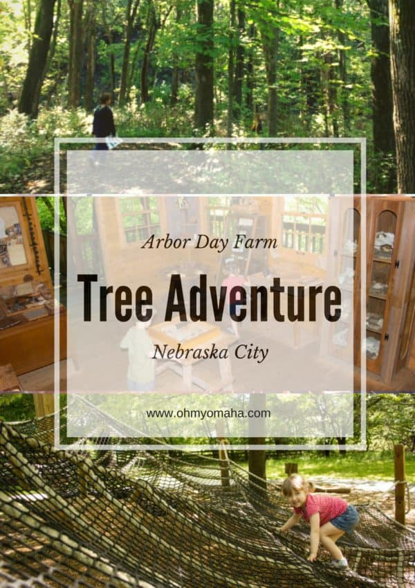 What to expect if you visit the Tree Adventure in Nebraska City - Details on the trails, kids' play area, and 50-foot tree house #Nebraska #familytravel #outdoors