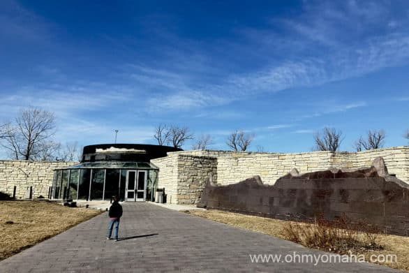 Entrance to the Western Historic Trails Center in Council Bluffs, Iowa