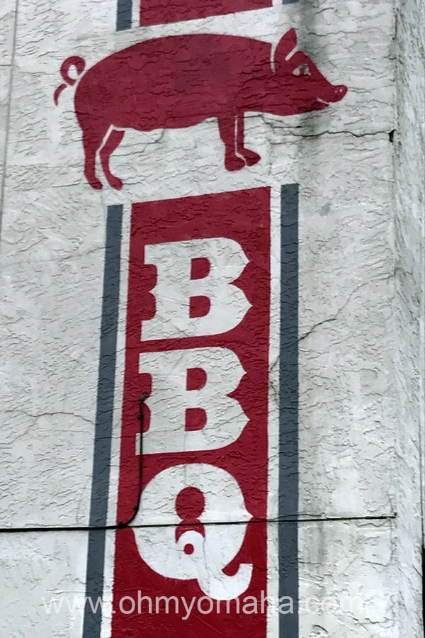 Sign for Delano Barbeque Co. in Wichita, Kansas