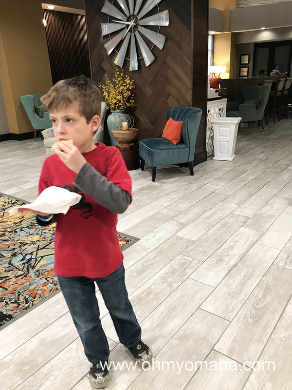 Free cookie at Hampton Inn & Suites Airport in Wichita, Kansas