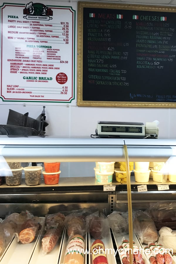 The deli counter at Orsi's Italian Bakery & Pizzeria