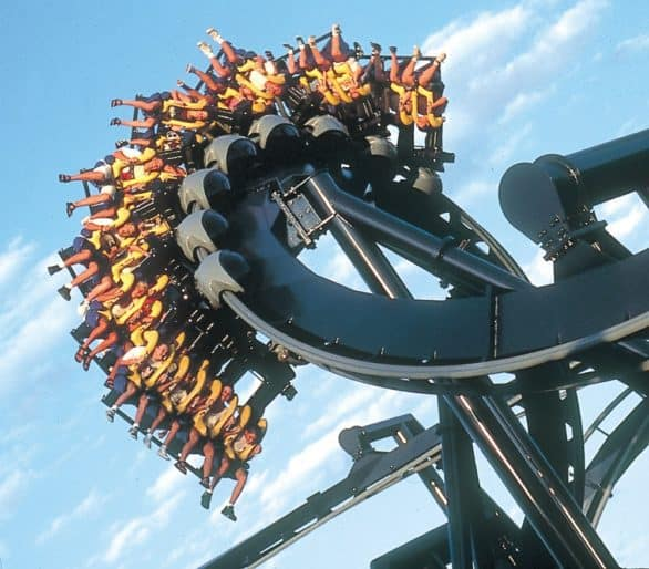 Batman The Ride at Six Flags in St. Louis