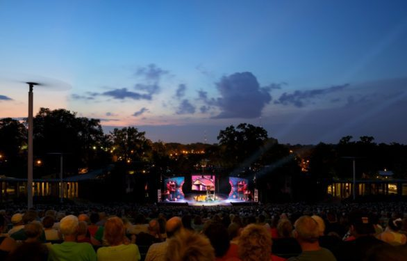 Outdoor show at night at The Muny in St. Louis