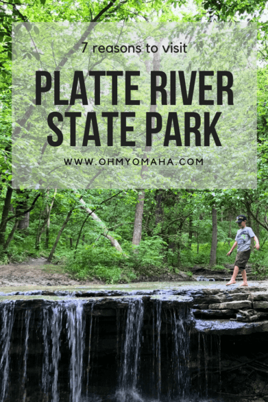 7 reasons why you should visit Platte River State Park in southeastern Nebraska #familytravel #outdoors #waterfall #Nebraska