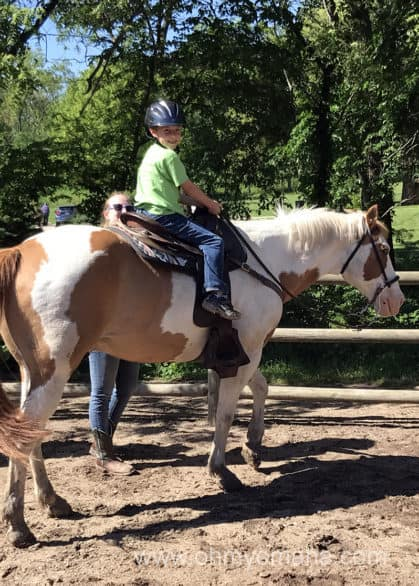 Horseback riding at Platte River State Park in Nebraska