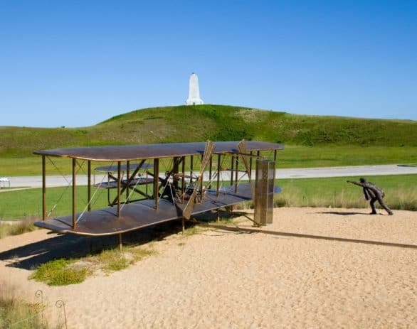 Sculpture at the Wright Brothers National Memorial in Kitty Hawk, North Carolina