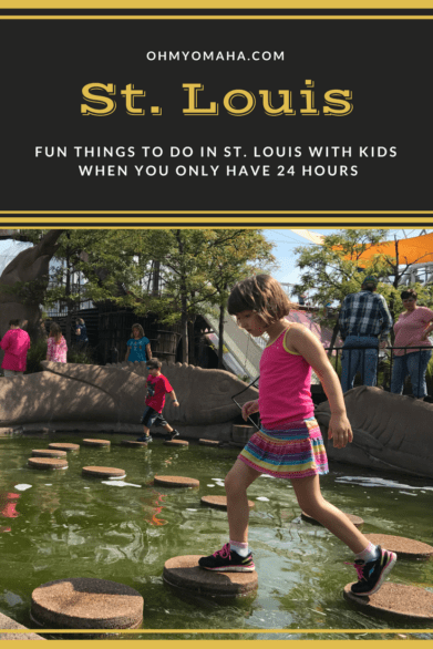 Got only a day in St. Louis? Here's a guide of fun things to do with kids in the city! #familytravel #stlouis #STL #Missouri
