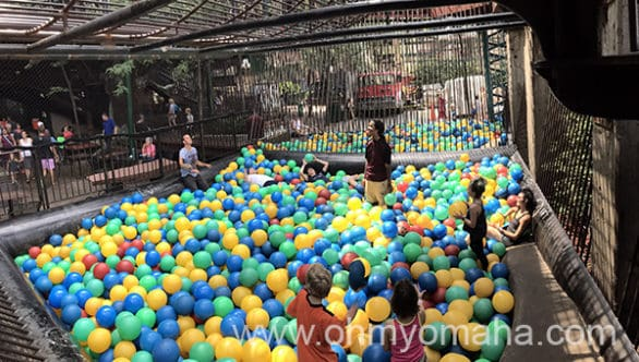 Huge outdoor ball pit at the City Museum in St. Louis