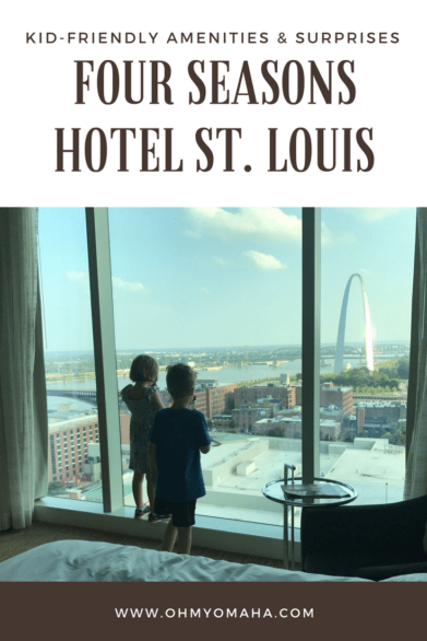 Four Seasons Hotel in St. Louis - This place is surprisingly kid-friendly while  remaining a splurge-worthy hotel in St. Louis #familytravel
