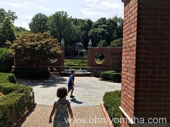 Entrance to a garden maze at Missouri Botanical Garden