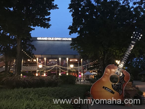 Exterior of Grand Ole Opry at night