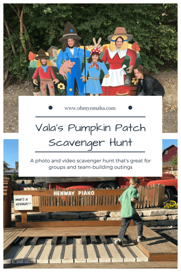 Headed to Vala's Pumpkin Patch this fall? Get the free printable scavenger hunt to try! #Omaha #Nebraska #pumpkinpatch