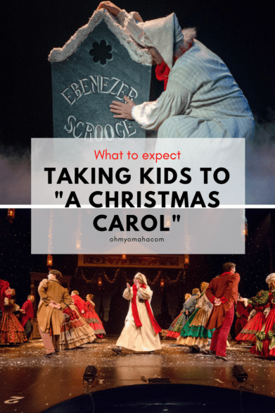 "What to expect if you take kids to ""A Christmas Carol"" - This holiday classic has been performed at Omaha Community Playhouse for more than 40 years. This is local community theater at its best! #Omaha #Christmas"