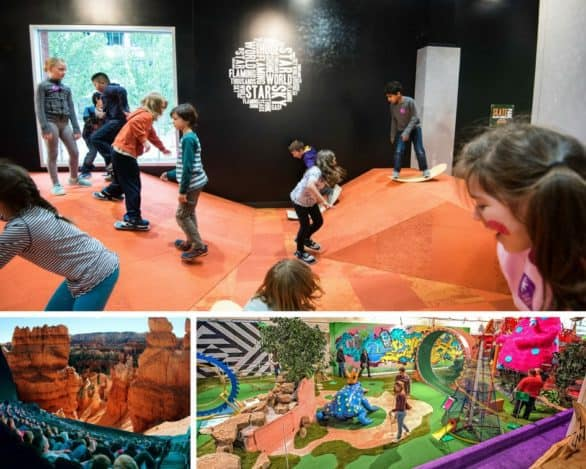 Twin Cities collage of attractions including Minnesota Children's Museum, Can Can Wonderland and Science Museum of Minnesota