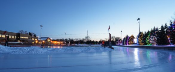 OVAL ice skating rink in Roseville, Minnesota