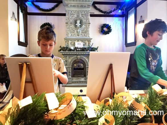 My son adding a wish to the display during American Swedish Institute's Julmarknad.