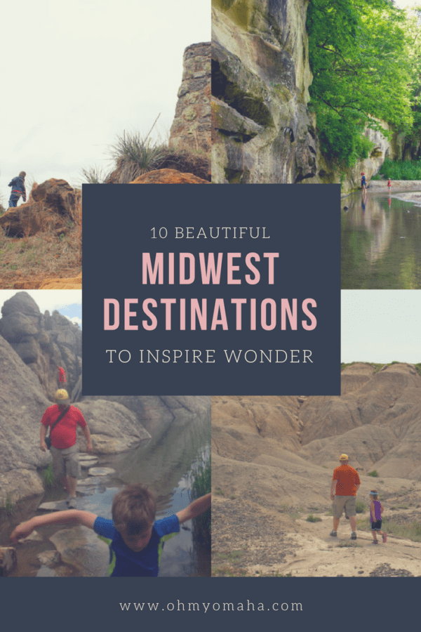 10 beautiful destination in the Midwest | Family-friendly places to visit in Nebraska, Iowa, Kansas, South Dakota #Midwest #familytravel #outdoors