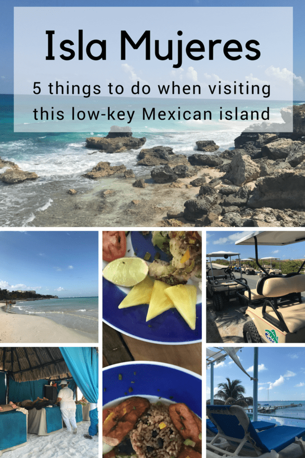 Things to do in Isla Mujeres - This island in Mexico is super chill where the main way to get around is by golf cart #Mexico #tropical #islamujeres
