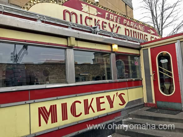 Exterior of Mikey's Diner in St. Paul, Minnesota