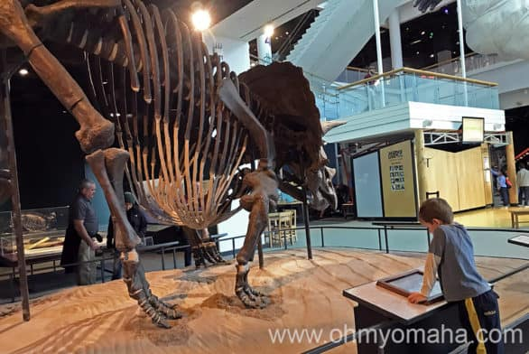 There are four floors of exhibits at the Science Museum of Minnesota, including one of dinosaurs and fossils that include this guy - one of only four real Triceratops on display in the world and the largest complete specimen on display.