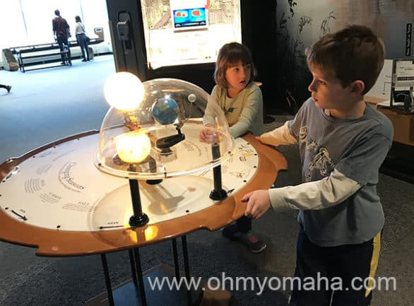 Learning about the solar system at Science Museum of Minnesota in St. Paul
